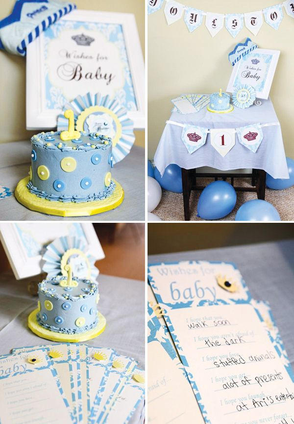 Royally Sweet Little Prince Birthday Party | Prince birthday party ...