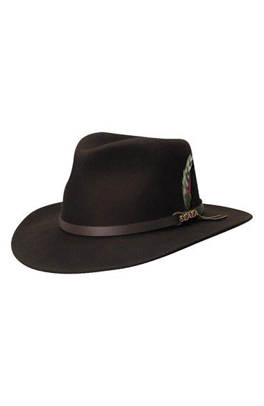 d7e6347198755 Scala  Classico  Crushable Felt Outback Hat available at  Nordstrom ...