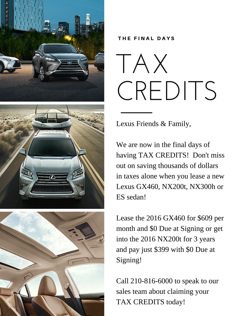 Call Lexus At Dominion 210 816 6000.