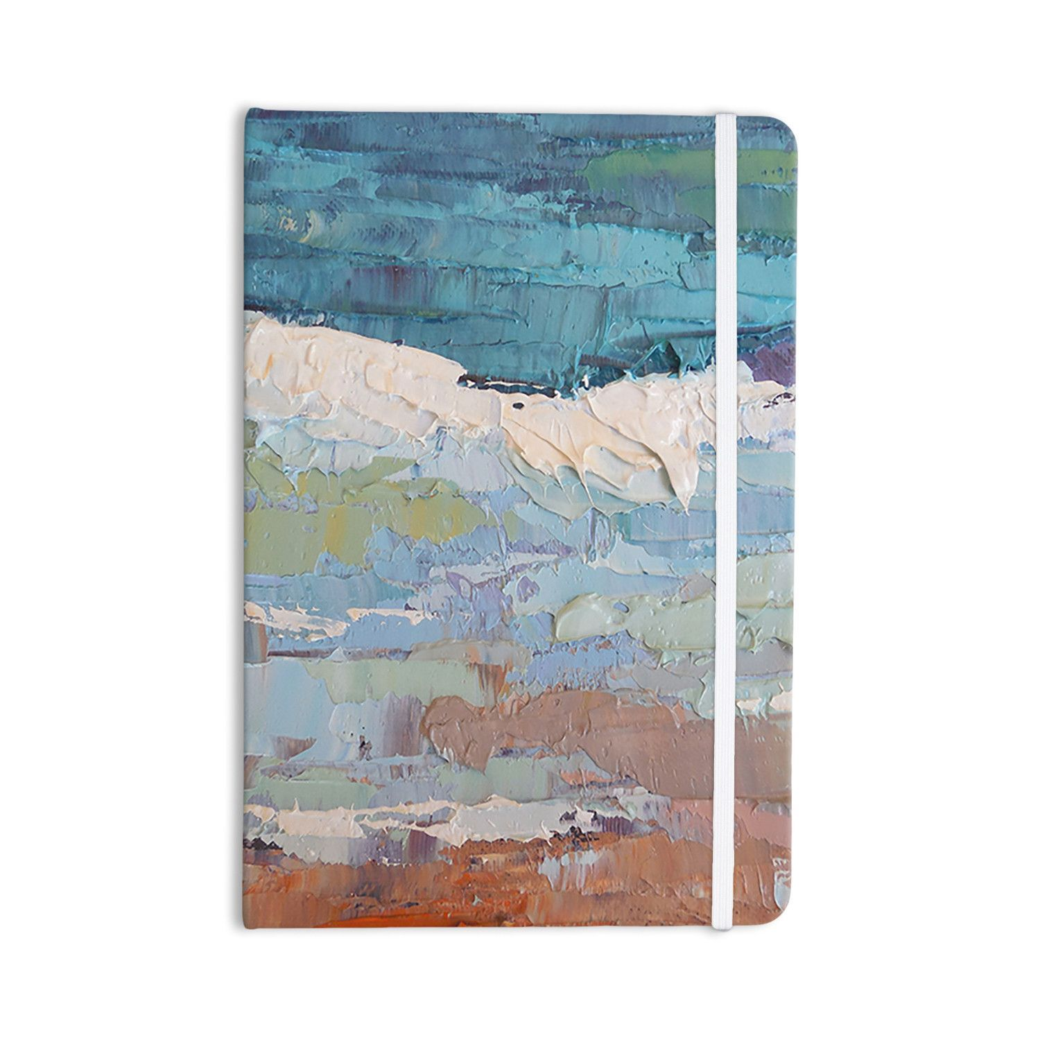 """Carol Schiff """"Surf Dreams"""" Blue Painting Everything Notebook"""