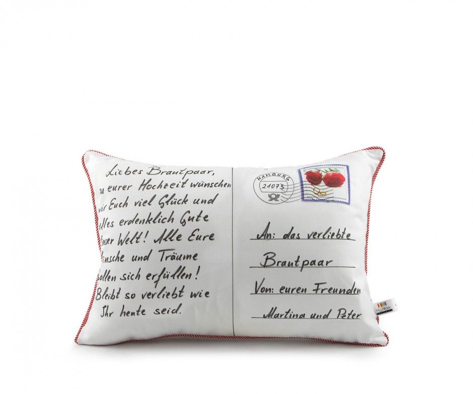 mit deinem individuellem postkarten kissen zur hochzeit bleibst du in erinnerung berrasche mit. Black Bedroom Furniture Sets. Home Design Ideas