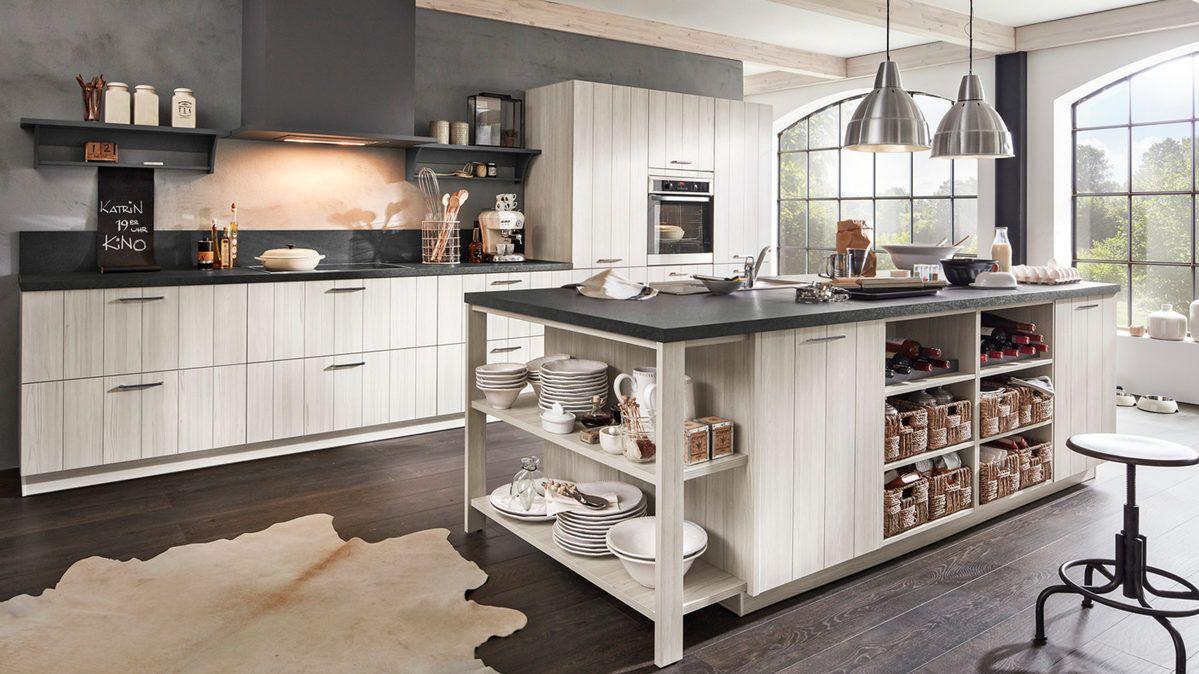 eine moderne k che im landhausstil in dezenten farben gehalten ist diese k che zeitlos. Black Bedroom Furniture Sets. Home Design Ideas