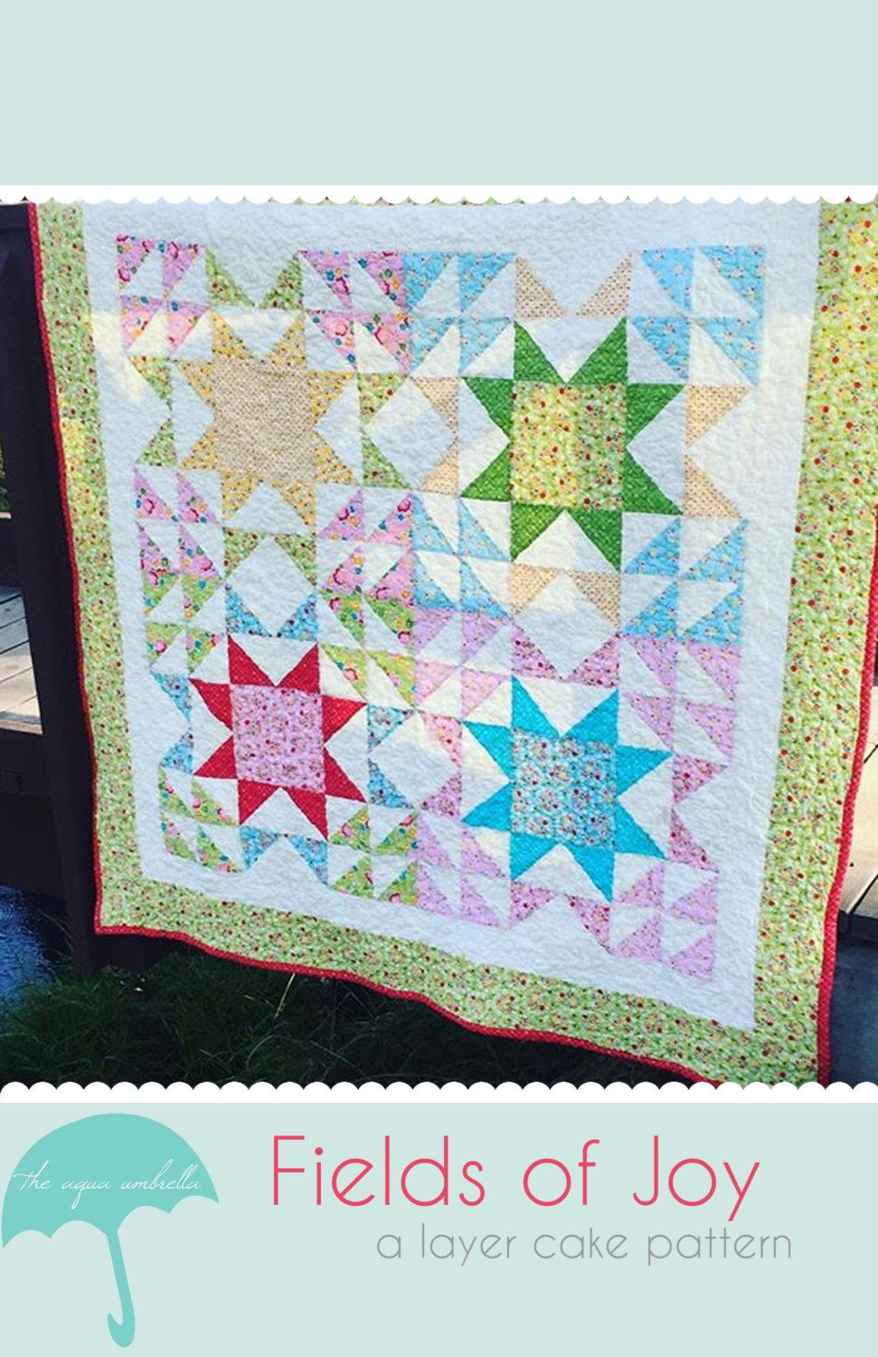 Fields of joy quilt pattern by theaquaumbrella on etsy
