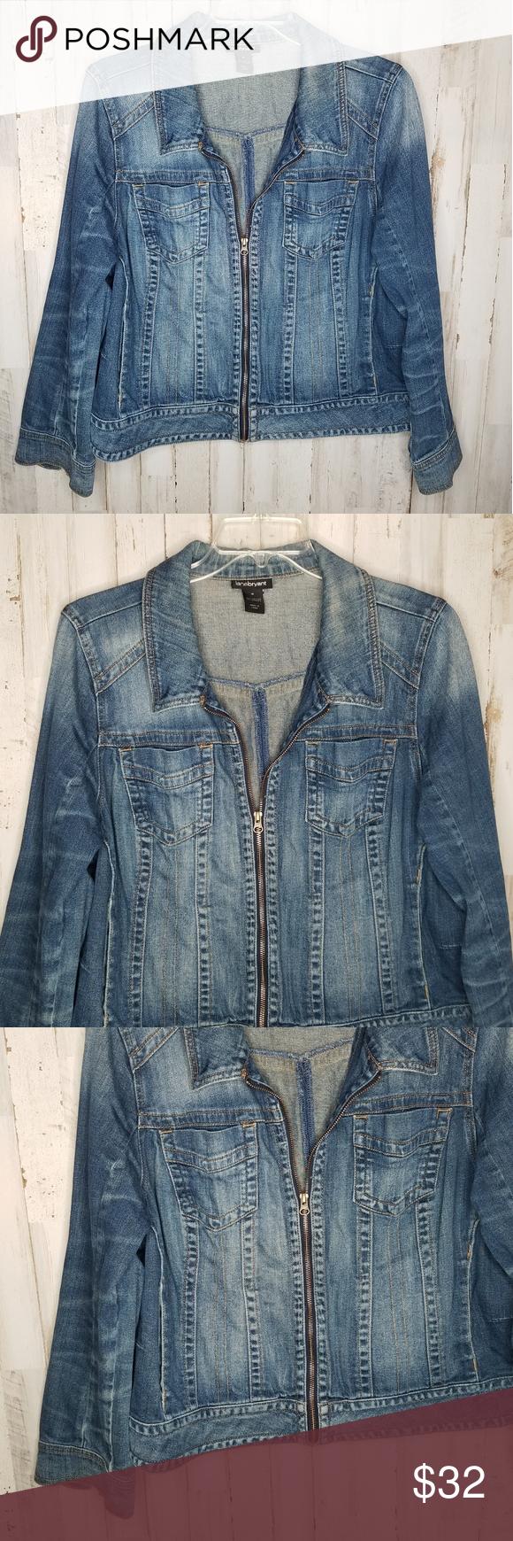Lane Bryant Denim Jacket Zip Front Plus Size 18 Denim Jacket Denim Lane Bryant [ 1740 x 580 Pixel ]