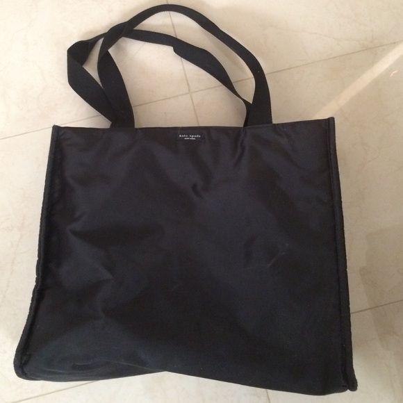 Kate Spade Black Nylon Black nylon, used but great condition! kate spade Bags Totes