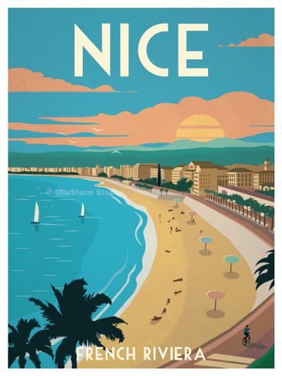 Image of Nice Poster   Vintage travel posters, Travel ...