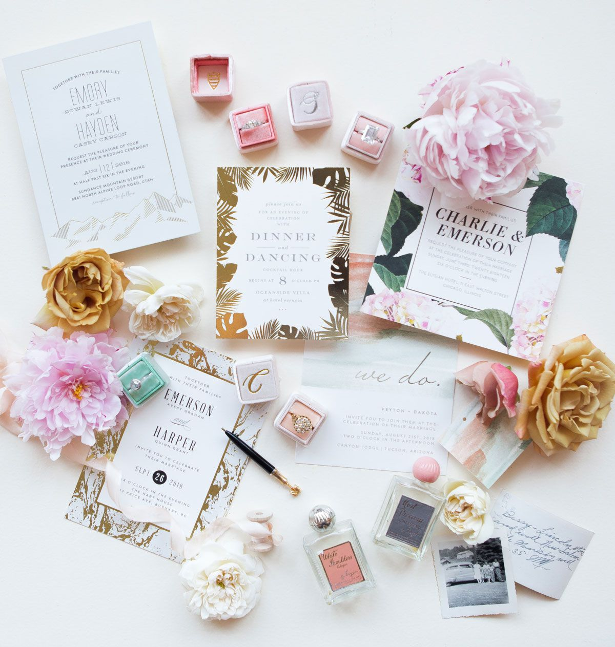 Minted x The Mrs Box Styled Wedding Themes Pastel