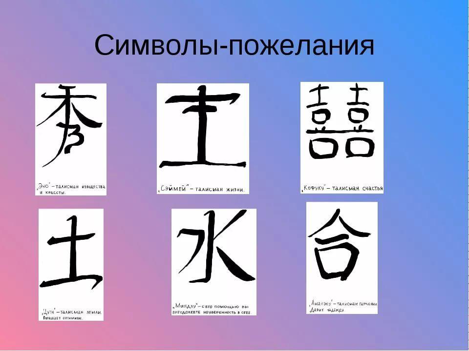 иероглифы японские и их значение на русском: 10 тыс ...