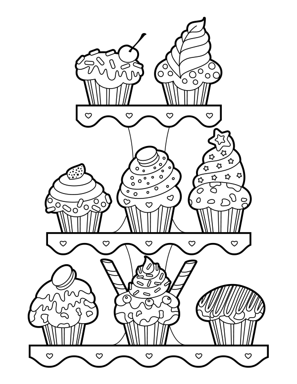 Free Printable Muffin Coloring Page Download It At Https Museprintables Com Download Co Coloring Pages Kids Printable Coloring Pages Birthday Coloring Pages