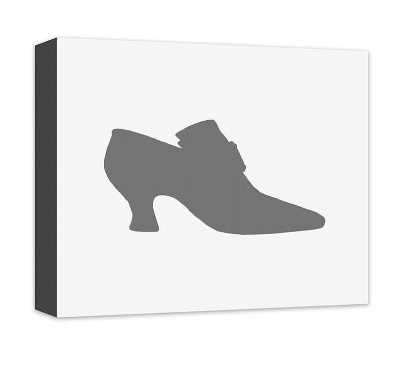 Princess Shoes I Children's Canvas Wall Art