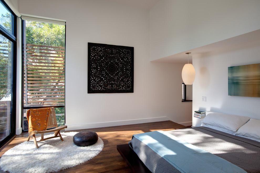 zen-stil schlafzimmer entspannt doppelbett kleiderschrank spiegel - schlafzimmer asiatisch