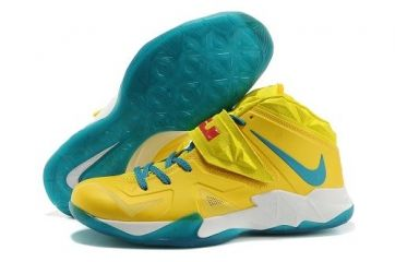 buy popular 20251 eb7c4 Nike Lebron Soldier VII Yellow Blue Shoes  62.98 (60% Off) US  156.98 Save  US 94