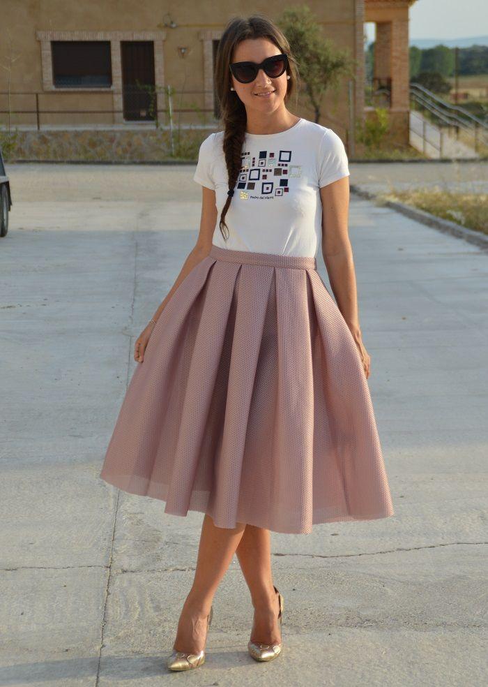 Entre Lazos Y Vestidos Falda Tablas Faldas Largas De Vestir Faldas Vestidos De Moda Casuales