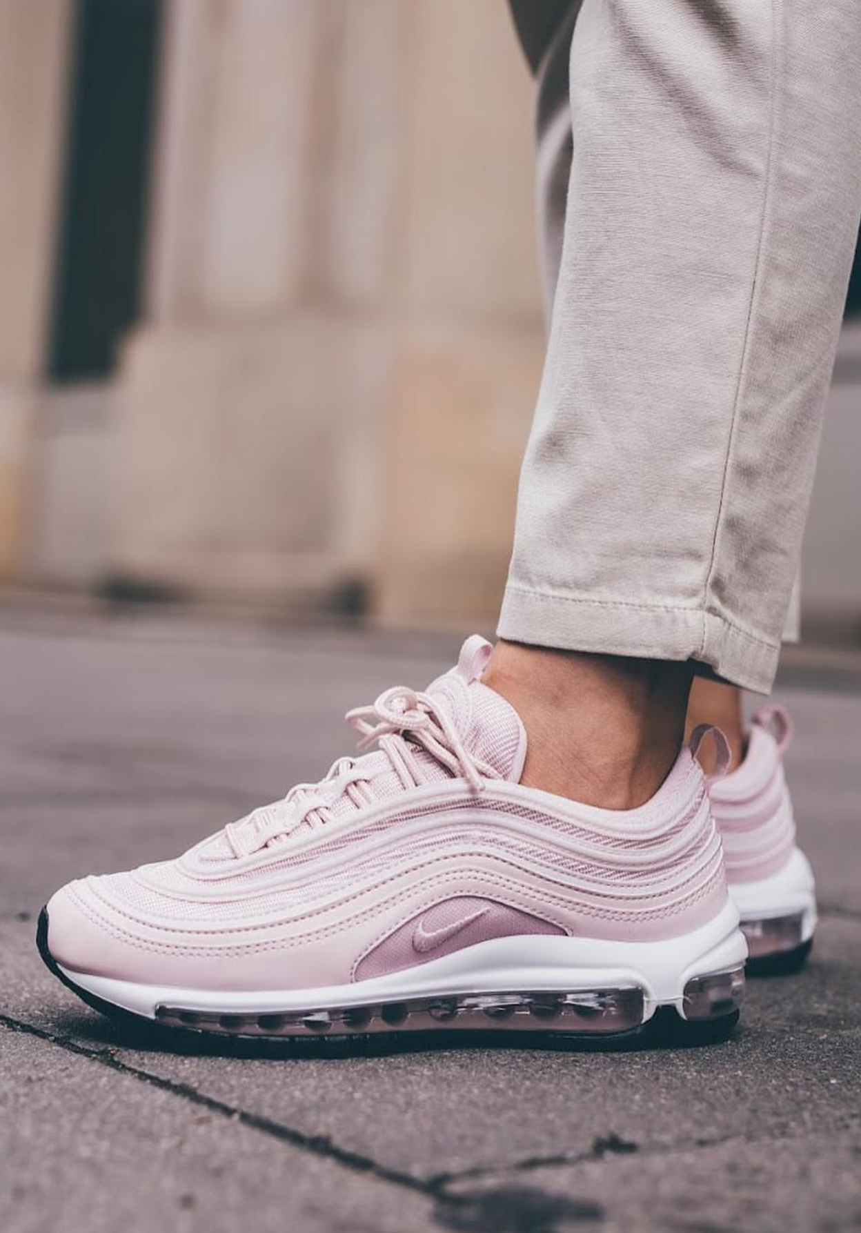 Pink Nike Sneakers Pink Nike W Air Max 97 Sneakers For Women Photo By Streetsupply Pink Casual Sn Sneakers Street Style Nike Air Max Pink Sneakers Nike