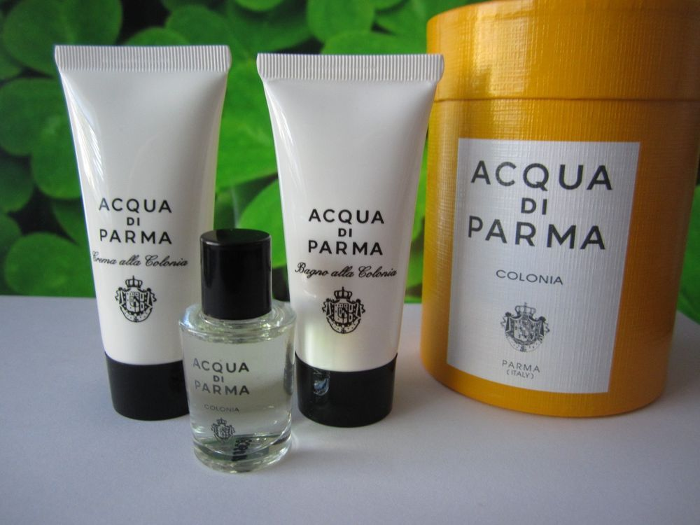 New Acqua Di Parma Colonia Unisex Perfume Mini 3pc Travel Gift Set Men Women Acquadiparma Travel Perfume Fragrance Shampoo Bottle