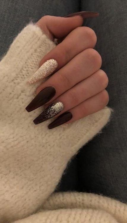 nails;nails acrylic;nails winter;nails acrylic coffin;coffin nails;coffin nails designs; #AcrylicNails #coffinnails