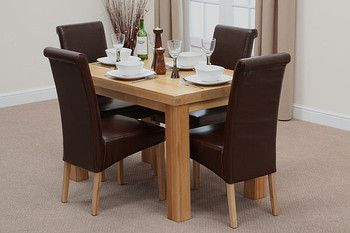 Wondrous Fresco Natural Solid Oak 4Ft X 2Ft 6 Solid Oak Dining Table Gamerscity Chair Design For Home Gamerscityorg