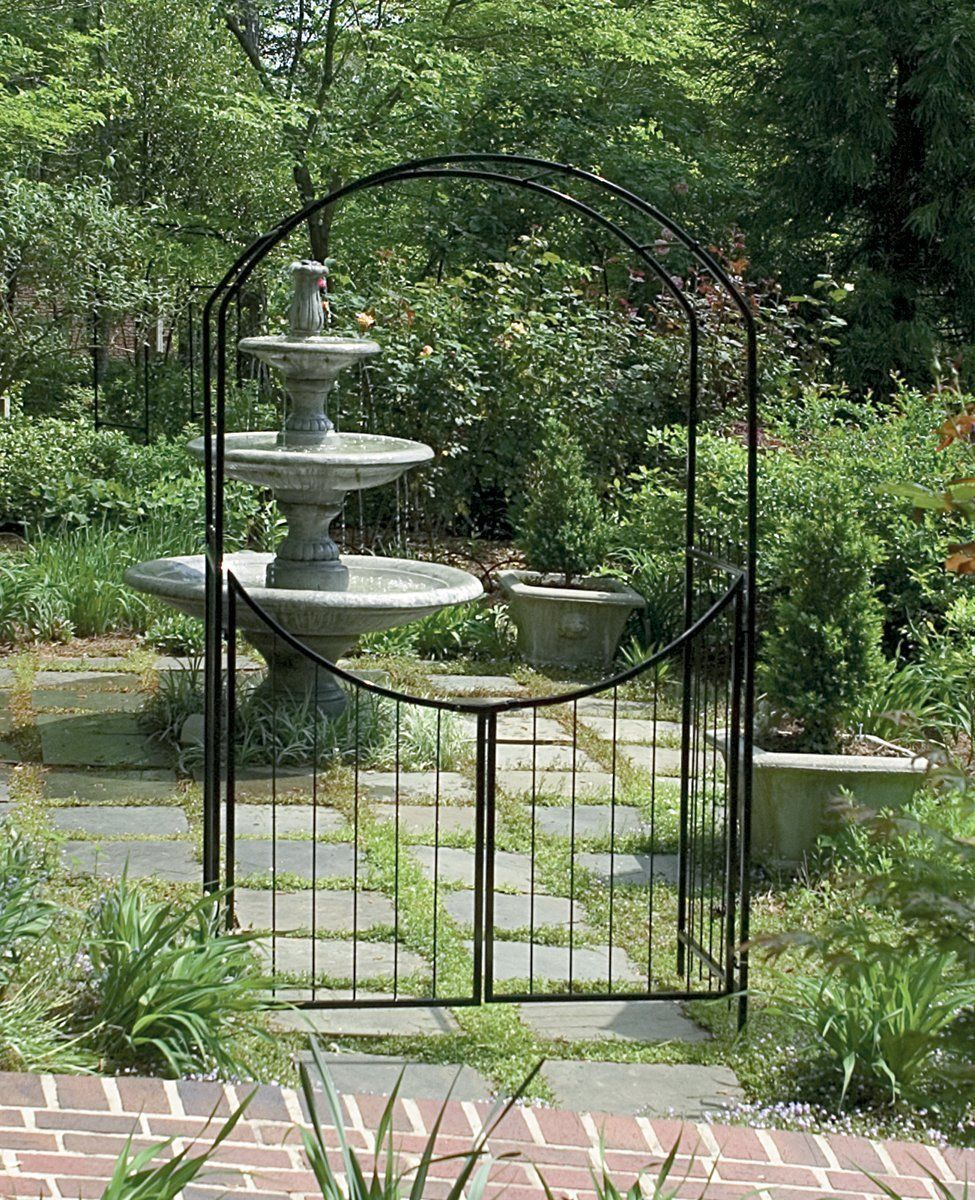 Wedding gate decoration ideas  Garden Arch Outdoor Arbor Patio Decor Wedding Trellis Metal Archway