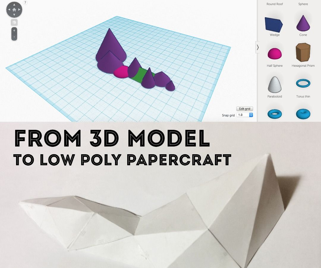 Introduction To Low Poly Papercraft Paper Crafts Paper Crafts Diy Low Poly