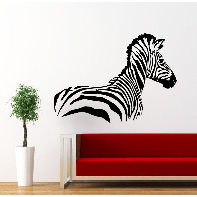 Zebra Print Pattern Vinyl Sticker Wall Art