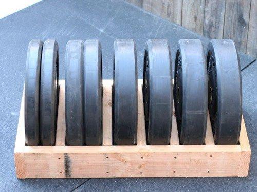DIY bumper plate storage box - very simple to make yourself & DIY Plate Storage Projects - Garage Gym Organization | Plate storage ...
