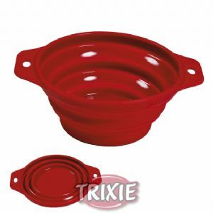 Folding dog doggy water bowl : Silicone : Ideal for travel, beach, walks etc.