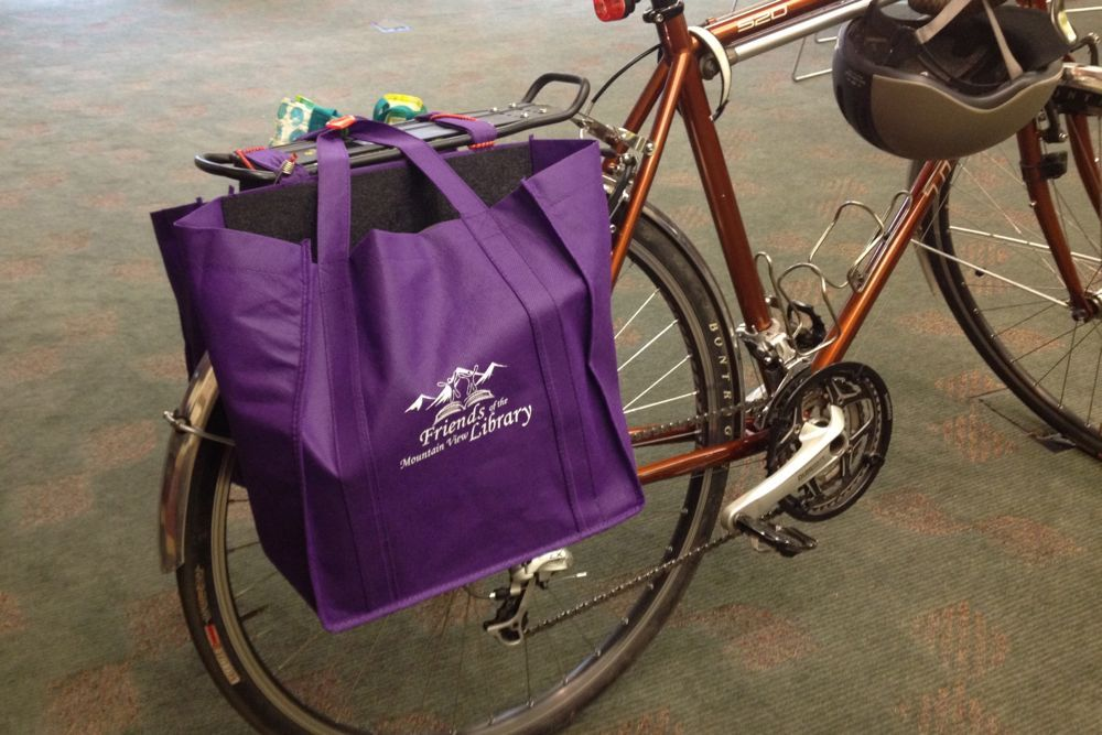 Bike Crafts Panniers From Reusable Grocery Bags Bike Craft