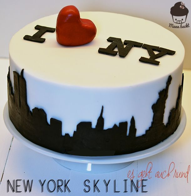 new york skyline cake es geht auch rund m a n n b a c. Black Bedroom Furniture Sets. Home Design Ideas