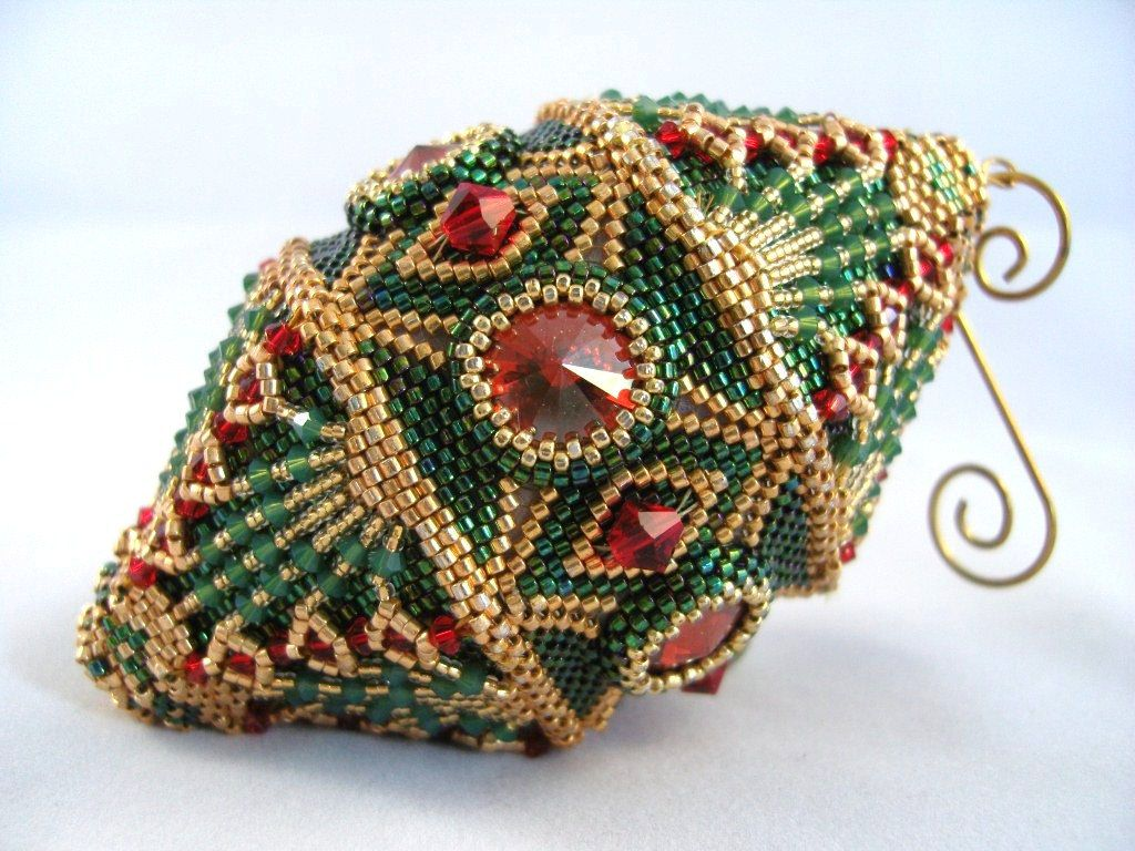 Surprising 1000 Images About Beaded Christmas Ornaments On Pinterest Easy Diy Christmas Decorations Tissureus