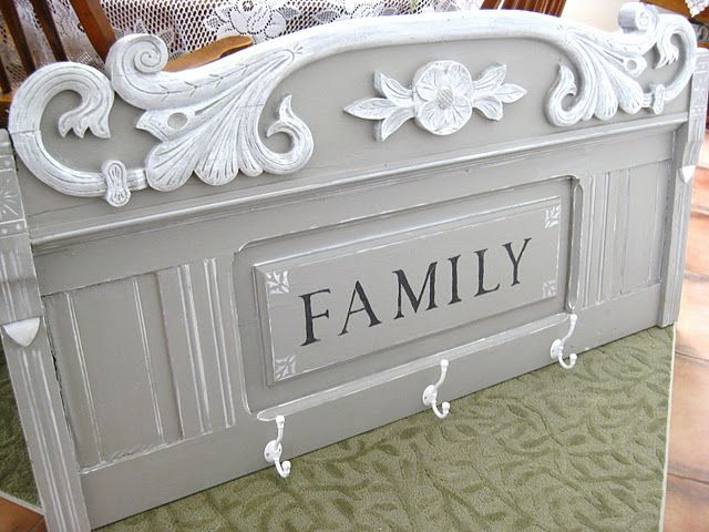 Out of an old headboard! Fantastic!