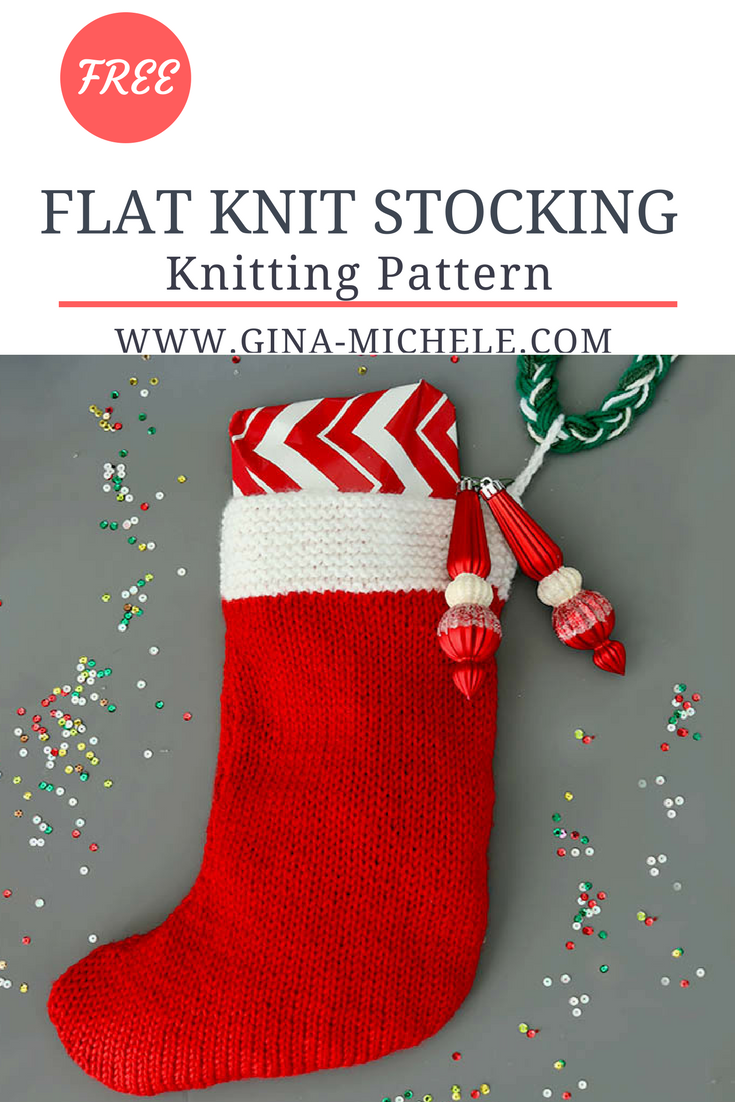 Flat Knit Christmas Stocking Knitting Pattern | Knitted christmas ...