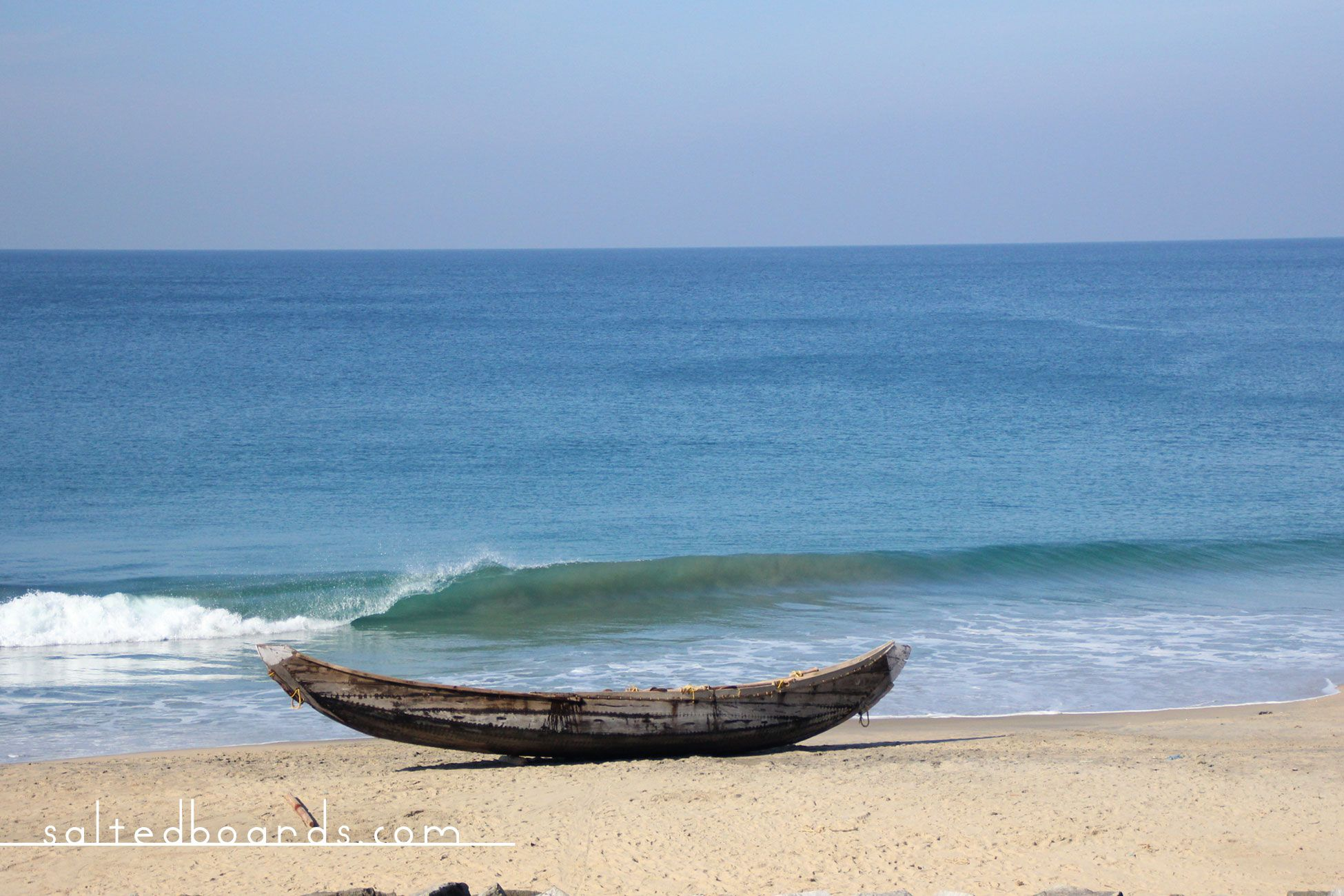 Salted Boards | Surfing pointbreaks in Varkala, India #surf #wave #ocean #varkala #kerala #india #landscape #seascape #boat #fishing