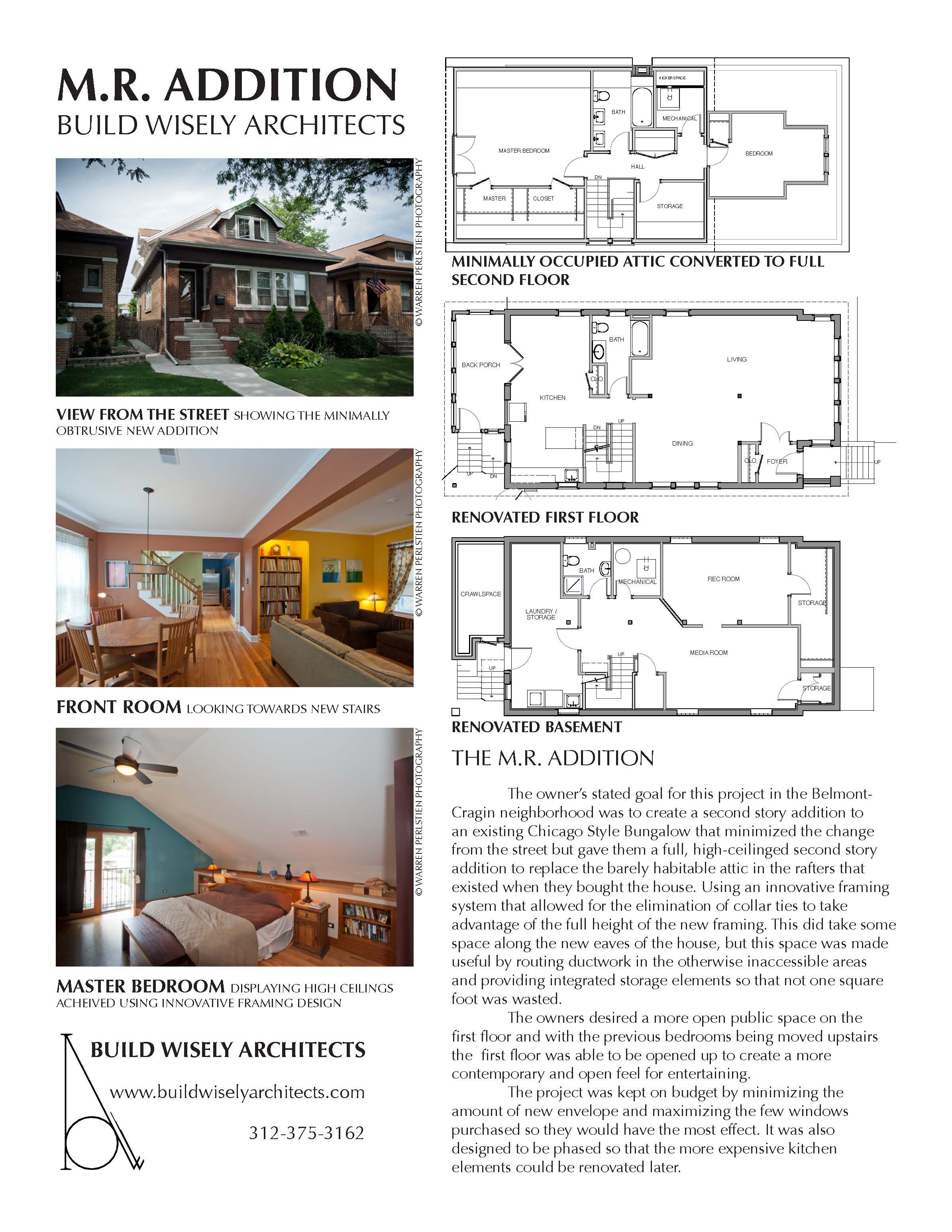 The Addition Build Wisely Architects Owner Stated Goal For This Project