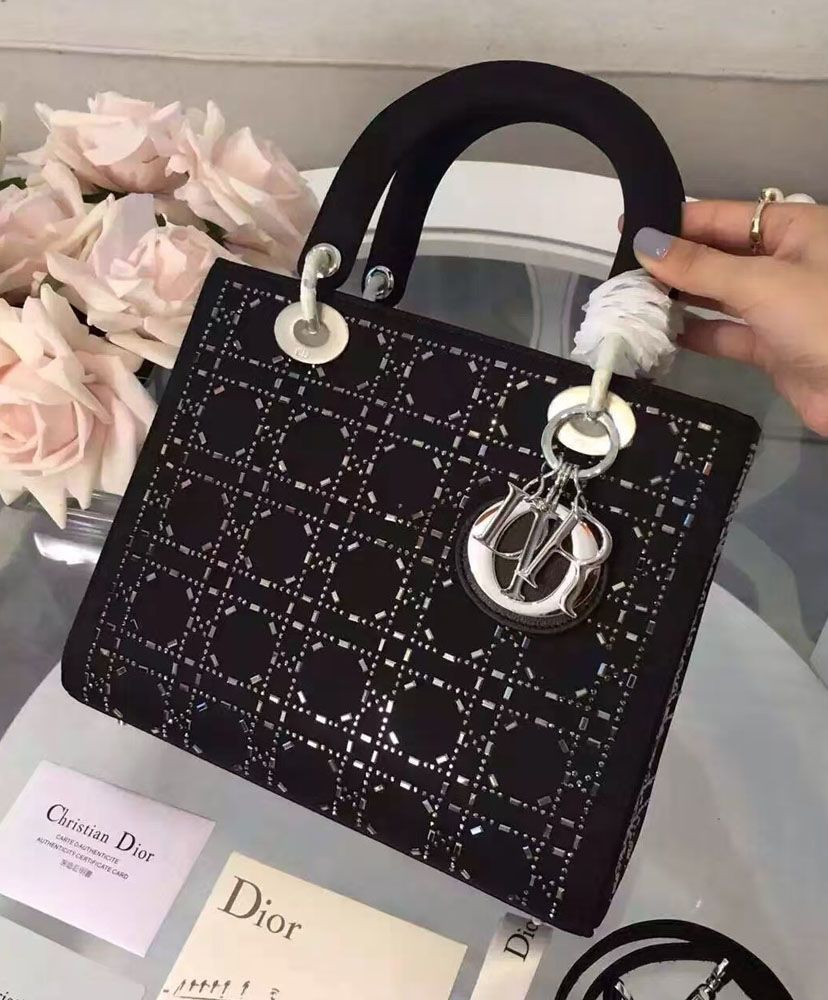 61fbd9a41c6c Christian Dior Lady Dior Medium Cannage Studded tote Bag ...