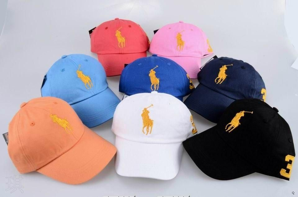 7784e62d Wholesale free shipping discount Polo Caps good quality hats summer ...