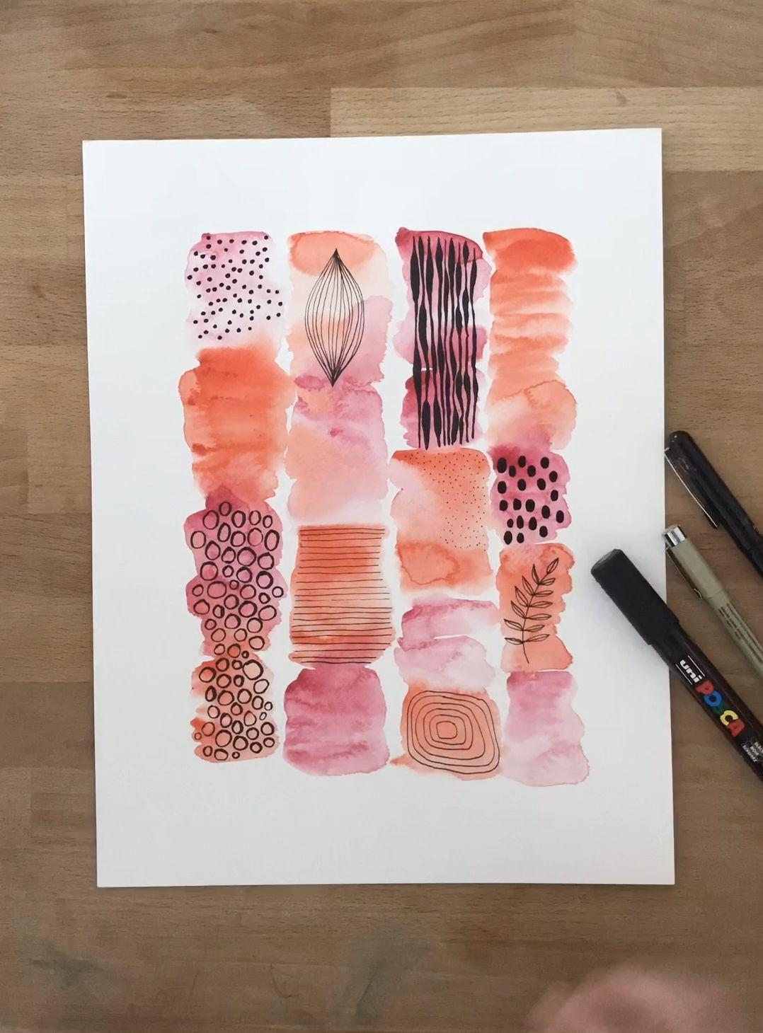 Watercolor tutorial blending colors and mark making part 2