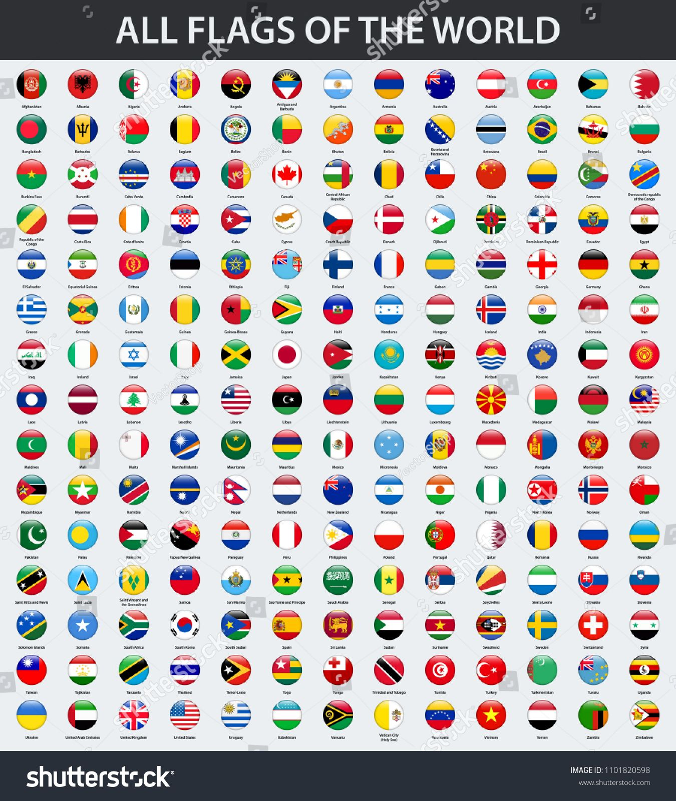 All Flags Of The World In Alphabetical Order Round