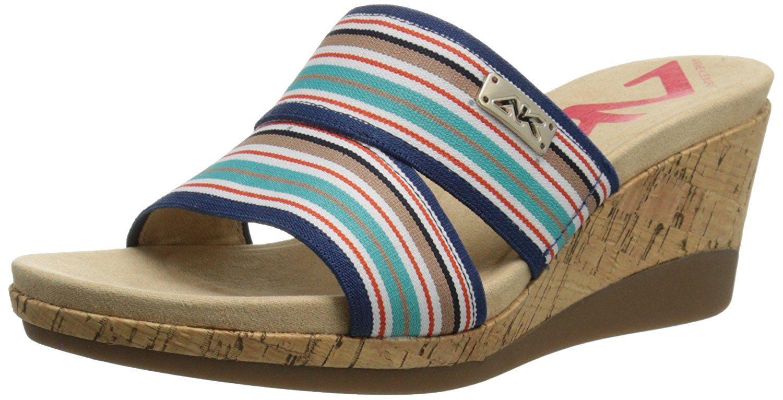 Anne Klein Sport Women's Pleasant Fabric Wedge Sandal