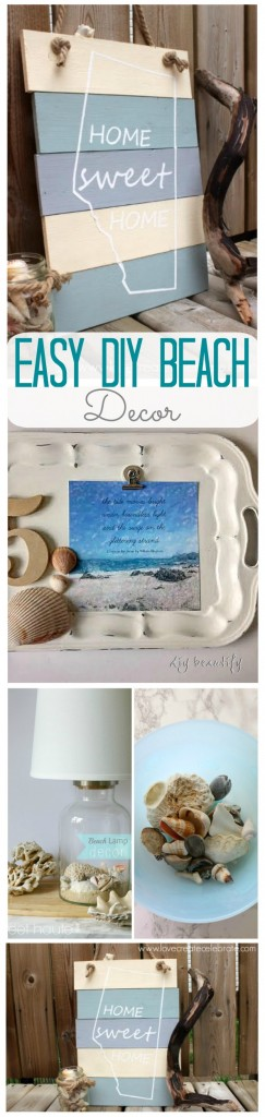 Easy DIY Beach Decor ideas and projects for home SWEET HAUTE