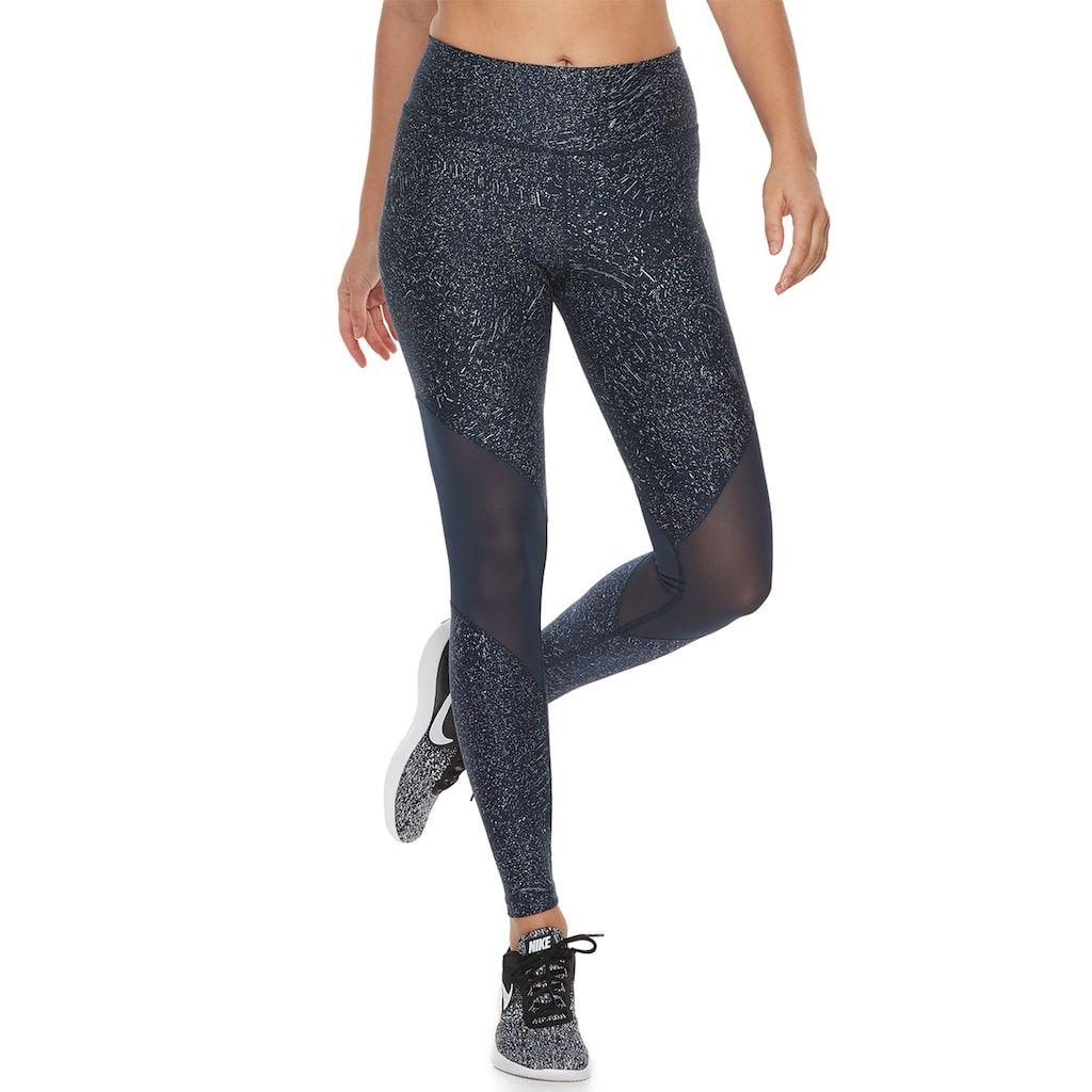898da580ef94d Women's Nike Power Training Mesh Panel Midrise Leggings | Products ...