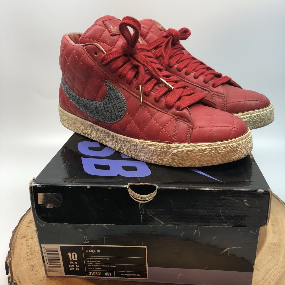 huge discount df120 da6f6 Nike Blazer SB Supreme Size 10 Red 313962-601 WTD Paris ...