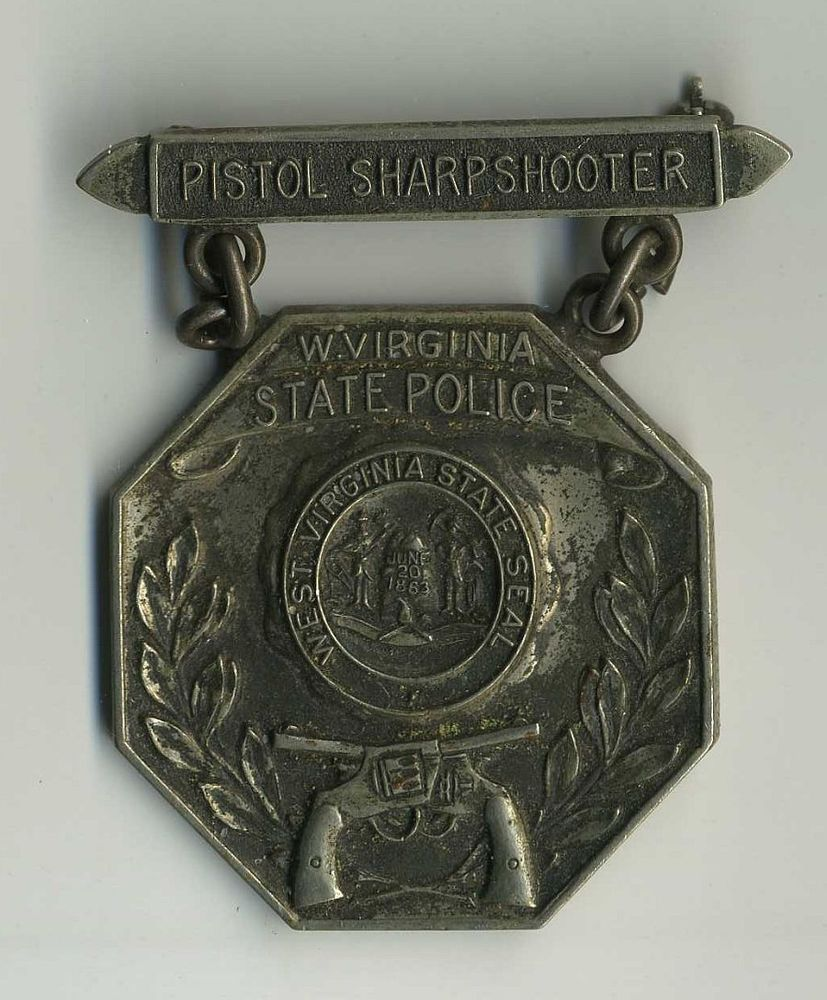 Vintage West Virginia Wv State Police Pistol Sharpshooter Metal Pin Award Cv918 In Collectibles Historical Memorabilia Police State Police Wv State Police