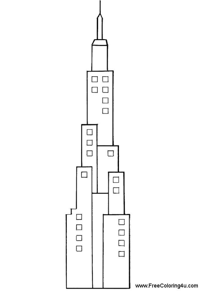 Skyscraper Coloring Page Printable Google Search Architecture Art Design Futuristic Architecture Art Design