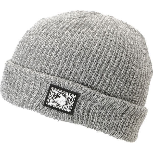 572695da78950 Crooks and Castles Union Craft Grey Cuff Beanie ( 30) ❤ liked on Polyvore