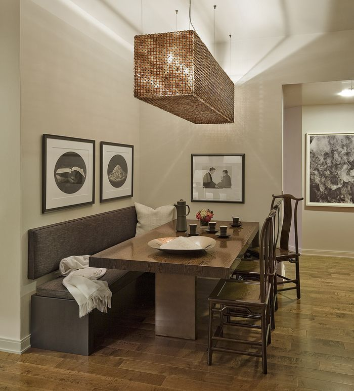 Dining Room Table With Bench And Back  New Home  Pinterest Fair Dining Room Bench Seating Decorating Design