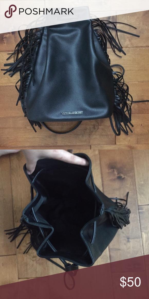 🎒 Victoria s Secret Black String Backpack 🎒 Cute bag a26d08c55