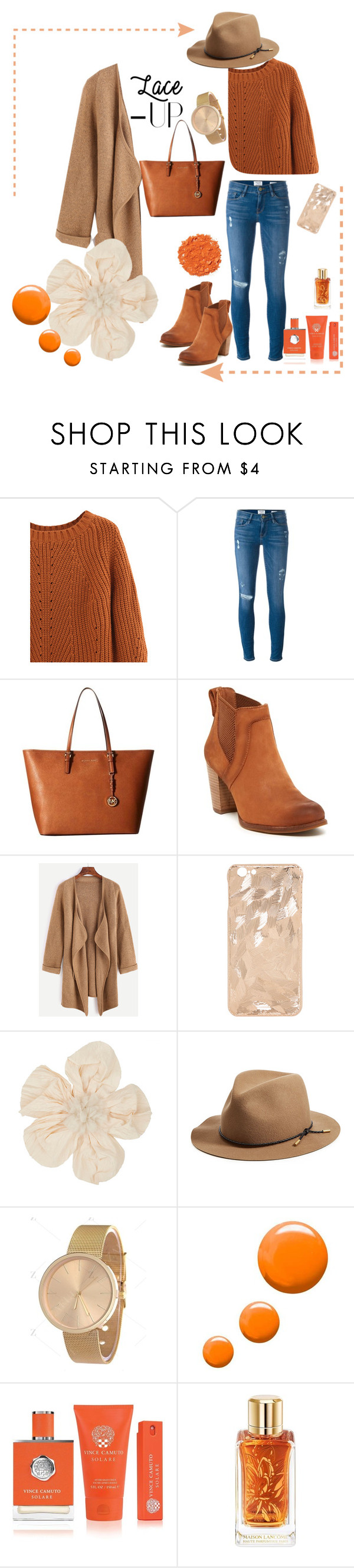 """""""winter look"""" by kataaaa3101 ❤ liked on Polyvore featuring Frame, MICHAEL Michael Kors, UGG, Lanvin, rag & bone, Topshop, Vince Camuto, Illamasqua and Lancôme"""