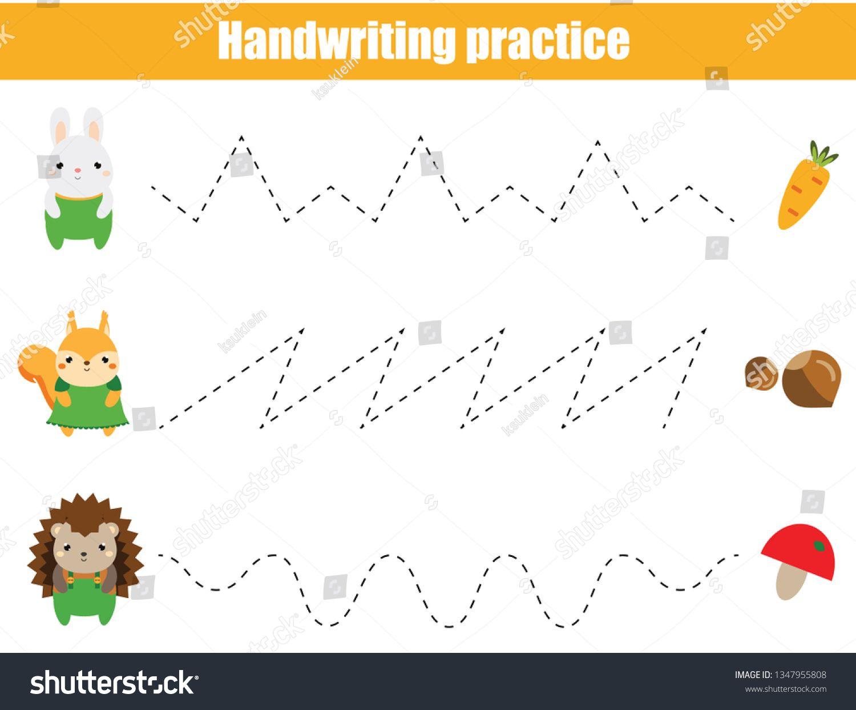 Preschool Handwriting Practice Sheet Educational Children