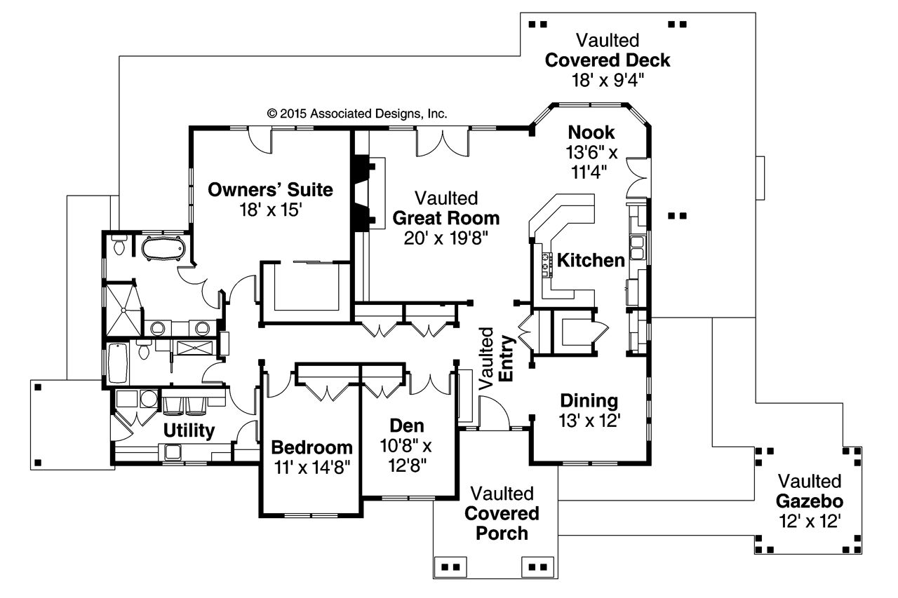 New Lodge Style House Plan