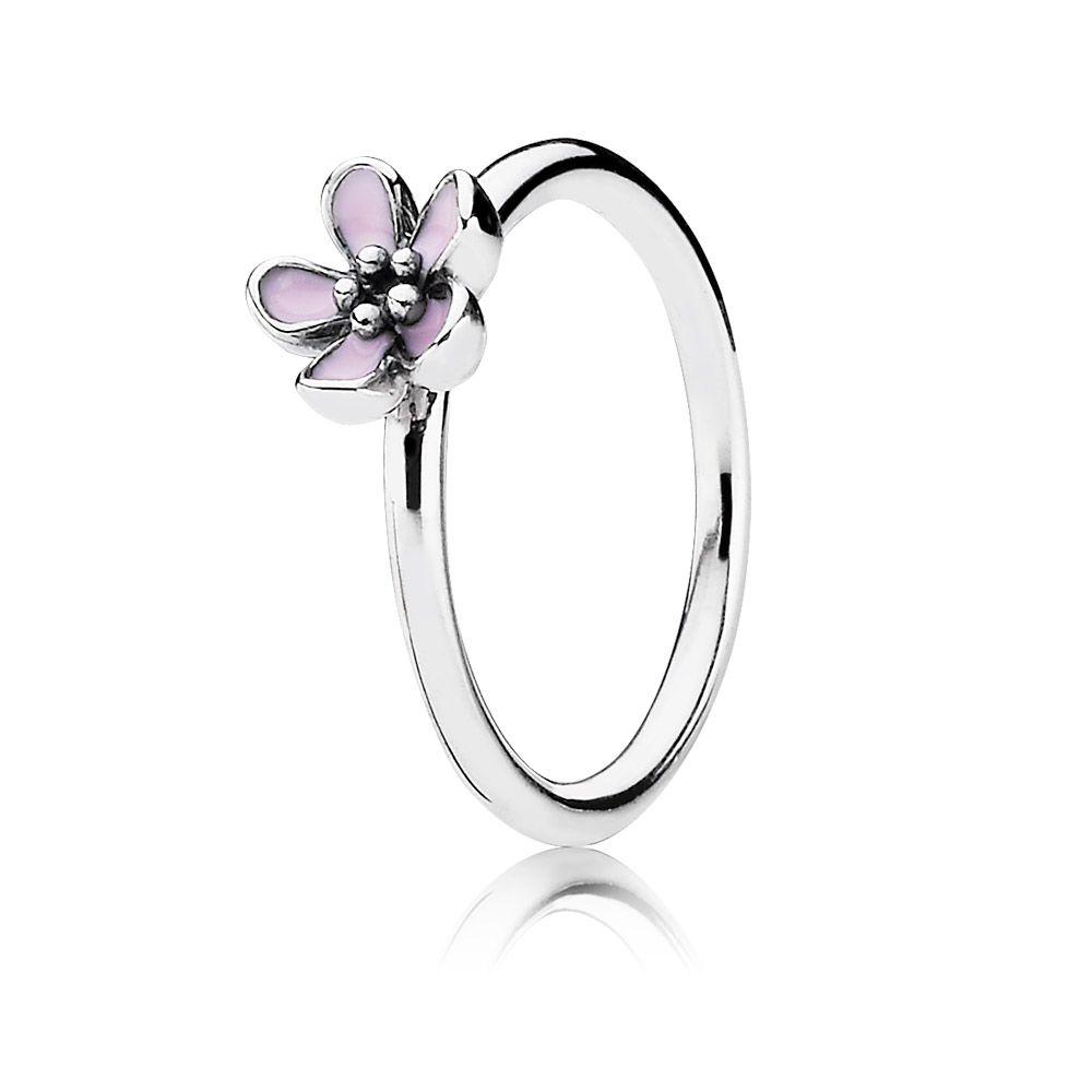 Pandora pink cherry blossom flower ring pink ring